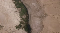 Israel aerial footage - Ein Avdat - Over the canyon and Tsin Wadi  Stock Footage