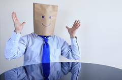 Anonymous happy man Stock Photos