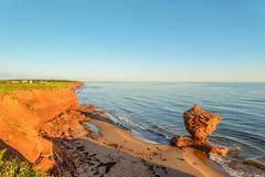 Ocean coast at the sunrise Stock Photos