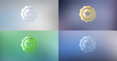 Quality Award 3d Icon Stock Footage