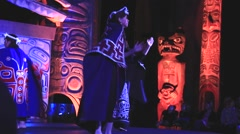 Women performing first nations dance Stock Footage