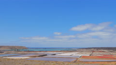 Clouds run faster on mountains fields and the sea in Lanzarote- timelapse Stock Footage