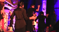 Indigenous artists dancing with audience Stock Footage