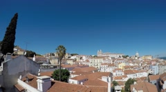Lisboa, Portugal. viewpoint Largo das Portas do Sol Stock Footage