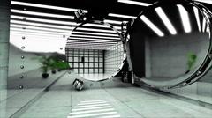 Bank Vault Door. Bank interior. business concept. 3d animation Stock Footage