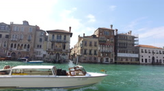 Water Taxi in Venice, Italy Stock Footage