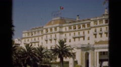 1948: a building with a flag on top is seen.PORTUGAL Stock Footage