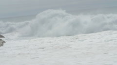 the immensity of the sea moved in a windy day Stock Footage