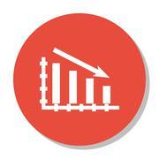 Vector Illustration Of Statistics Icon On Statistics Down Chart In Trendy Fla Stock Illustration