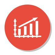 Vector Illustration Of Statistics Icon On Statistics Growth Chart In Trendy F Stock Illustration