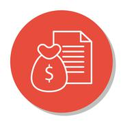 Vector Illustration Of Project Management Icon On Money, Revenue And Reports  Stock Illustration