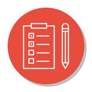 Vector Illustration Of Project Management Icon On Task List And Reminder In T Stock Illustration