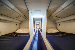 Luxury cabin for airplane crew Stock Photos