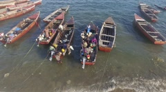 Boats in Zanzibar from the top Stock Footage