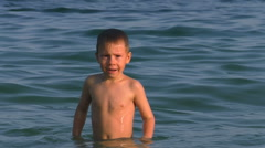 Boy waving from under the water.  Stock Footage