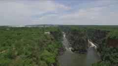 Victoria Falls Zimbabwe Stock Footage