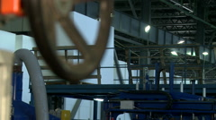 View on production department and working loader Stock Footage
