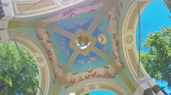 The ceiling with Angels Stock Footage