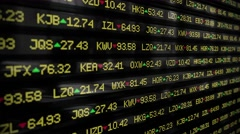 Stock market ticker currency wall st money business company shares crash 4k Stock Footage