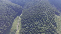 Untouched nature of  Ukraine. Video from drone Stock Footage