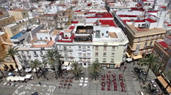 Cadiz Square Spain Stock Footage