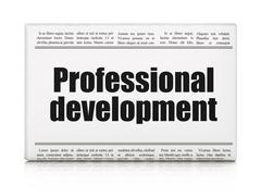 Education concept: newspaper headline Professional Development Stock Illustration