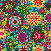 Vector art vintage stylization floral  pattern. background Stock Illustration