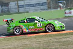 Vallelunga, Rome, Italy. September 10th 2016. Porsche Carrera Cup, car in act Kuvituskuvat