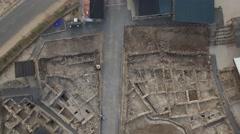 Magdala - Archaeological park and Lake Kinneret (Israel aerial footage) Stock Footage