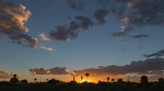 HD 24p emaculate sunset after a stormy day time lapse Stock Footage