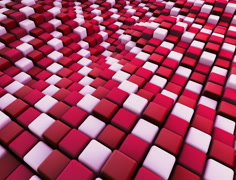 Abstract surface of moving cubes Stock Footage