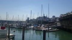 San Francisco Pier 39 Marina Stock Footage
