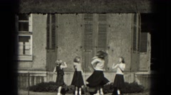1953: woman dancing with the girls.MILWAUKEE, WISCONSIN Arkistovideo