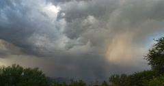 4K Cine 24p evil looking storm remnants rainbow time lapse Stock Footage