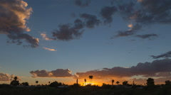 Emaculate sunset after a stormy day time lapse Stock Footage