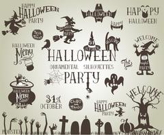 Halloween vintage banners Stock Illustration