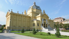 Art Pavillon Museum in Zagreb Stock Footage
