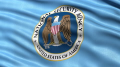 Seamless loop of NSA flag waving in the wind Stock Footage