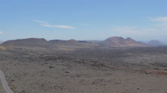 Lanzatore -panoramic view of a barren and desolate land Stock Footage