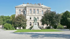 Academy of croatian arts and sciences in Zagreb. Stock Footage