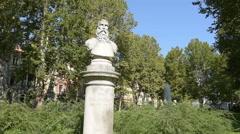 Bust of Krsto I Frankapan Brinjski Stock Footage