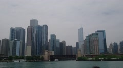 Chicago River Lakefront Stock Footage