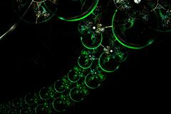 Abstract fractal glowing green spherical fun chain Stock Illustration