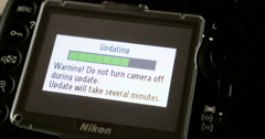 Updating camera software Stock Footage