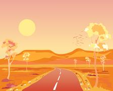 Arid australia Stock Illustration