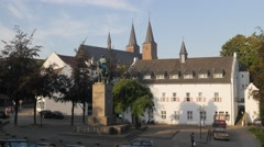 Historical buildings in old city,Kleve,Germany Stock Footage