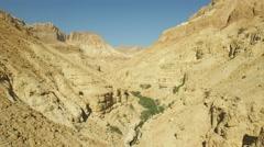 Ein Gedi - Judean Desert overview (Israel aerial footage) Stock Footage