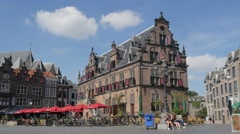 De Waagh historical building on Grote Markt,Nijmegen,Netherlands Stock Footage