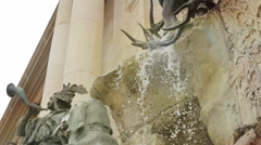 Suggestive view of the symbol Budapest: Matthias Fountain Stock Footage