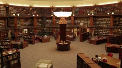 Liverpool central Library , Piction Reading Room Stock Footage